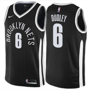 Nike NBA Maillot Basket Dudley Brooklyn Nets Noir #6 Homme City Edition