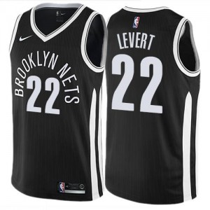 Nike NBA Maillots Basket LeVert Nets City Edition Noir Enfant #22