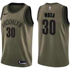 Maillot De Musa Nets Nike Homme #30 vert Salute to Service
