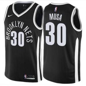 Nike Maillots De Musa Brooklyn Nets Homme City Edition Noir #30