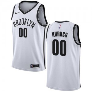 Nike NBA Maillot Basket Kurucs Brooklyn Nets Blanc No.00 Association Edition Enfant