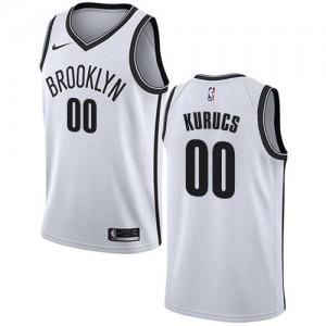 Nike NBA Maillot Basket Kurucs Brooklyn Nets Blanc No.00 Association Edition Enfant