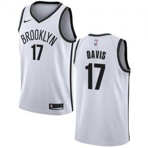 Nike NBA Maillots De Ed Davis Nets #17 Enfant Association Edition Blanc
