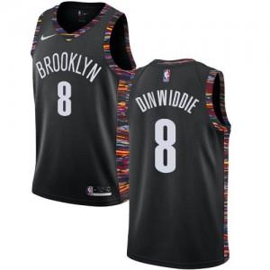 Nike NBA Maillot Basket Dinwiddie Nets 2018/19 City Edition No.8 Enfant Noir