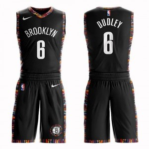 Nike NBA Maillots De Dudley Nets Noir Enfant #6 Suit City Edition