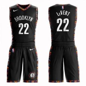 Nike Maillot De Basket Caris LeVert Brooklyn Nets Noir Enfant #22 Suit City Edition