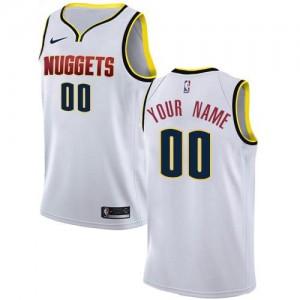 Personnalisable Maillot Basket Denver Nuggets Association Edition Nike Blanc Enfant