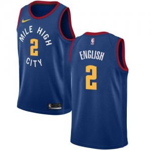 Maillot De Basket Alex English Nuggets Bleu Nike Statement Edition #2 Homme
