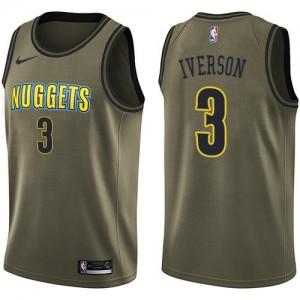 Nike NBA Maillot De Allen Iverson Denver Nuggets #3 Enfant vert Salute to Service