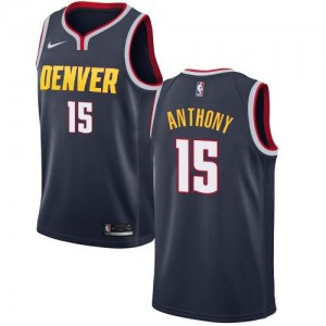 Nike Maillots De Anthony Nuggets #15 Icon Edition bleu marine Homme
