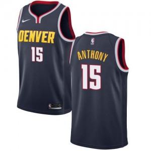 Maillots De Basket Carmelo Anthony Nuggets Nike No.15 Icon Edition bleu marine Enfant