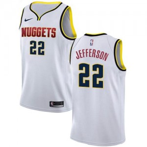 Nike NBA Maillot De Richard Jefferson Denver Nuggets #22 Homme Blanc Association Edition