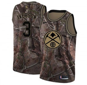 Nike Maillots De Allen Iverson Denver Nuggets No.3 Homme Camouflage Realtree Collection