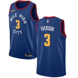 Nike NBA Maillots Iverson Denver Nuggets Statement Edition Bleu #3 Enfant
