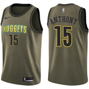 Nike Maillot De Basket Carmelo Anthony Denver Nuggets #15 Salute to Service Enfant vert