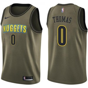 Nike NBA Maillot De Isaiah Thomas Nuggets Salute to Service Homme #0 vert