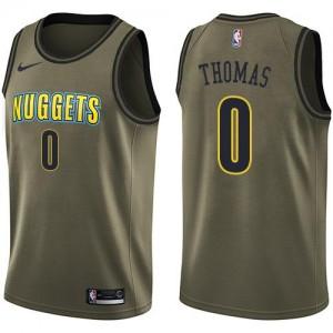 Nike NBA Maillots Basket Thomas Nuggets No.0 Enfant vert Salute to Service