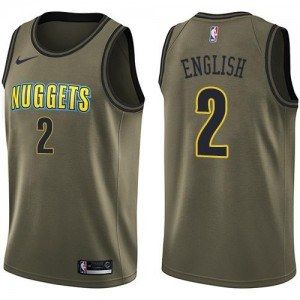 Maillot De Basket English Denver Nuggets vert #2 Nike Salute to Service Enfant
