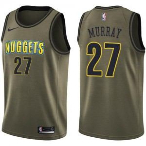 Nike NBA Maillots De Jamal Murray Denver Nuggets No.27 Homme Salute to Service vert