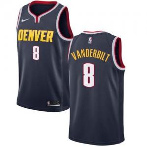 Nike Maillots Basket Jarred Vanderbilt Nuggets No.8 Homme bleu marine Icon Edition
