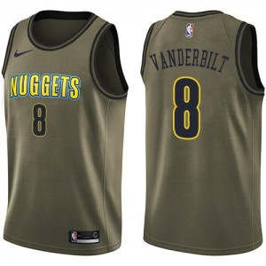 Maillots De Vanderbilt Nuggets Homme Salute to Service Nike vert No.8
