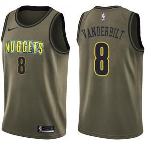 Nike NBA Maillots Basket Vanderbilt Denver Nuggets No.8 Enfant vert Salute to Service