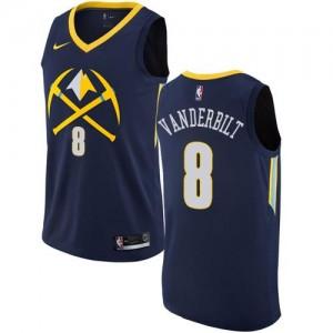 Nike Maillots Jarred Vanderbilt Denver Nuggets No.8 bleu marine Homme City Edition
