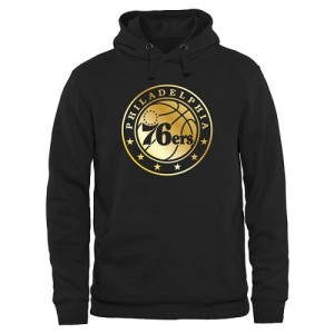 Sweat à capuche De Basket Philadelphia 76ers Noir Homme Gold Collection Pullover