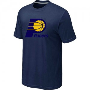 T-Shirt De Basket Pacers bleu marine Big & Tall Primary Logo Homme