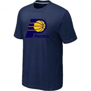 T-Shirt De Basket Pacers bleu marine Big & Tall Primary Logo Homme