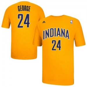 Adidas T-Shirts Basket Pacers Paul George Game Time No.24 or Homme & Enfant