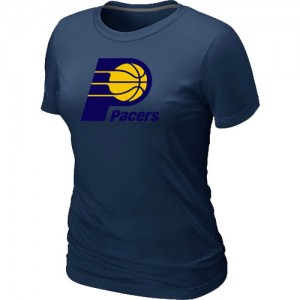 Tee-Shirt Basket Indiana Pacers Big & Tall Primary Logo Femme bleu marine