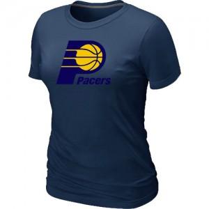 Tee-Shirt Basket Indiana Pacers Big & Tall Primary Logo Femme bleu marine