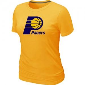 Tee-Shirt Basket Indiana Pacers Big & Tall Primary Logo Femme Jaune