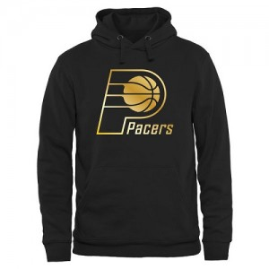 NBA Hoodie Pacers Homme Noir Gold Collection Pullover