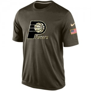 Nike Tee-Shirt Indiana Pacers Olive Salute To Service KO Performance Dri-FIT Homme