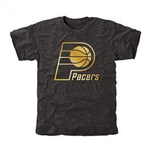 Tee-Shirt De Basket Pacers Homme Gold Collection Tri-Blend Noir