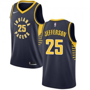 Nike NBA Maillots Basket Al Jefferson Indiana Pacers bleu marine No.25 Homme Icon Edition