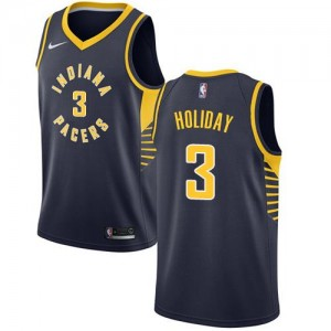 Nike NBA Maillot Basket Aaron Holiday Indiana Pacers Icon Edition bleu marine Homme No.3