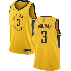 Maillot Aaron Holiday Pacers Statement Edition or #3 Homme Nike