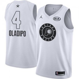 Jordan Brand NBA Maillots De Victor Oladipo Pacers Blanc 2018 All-Star Game No.4 Enfant
