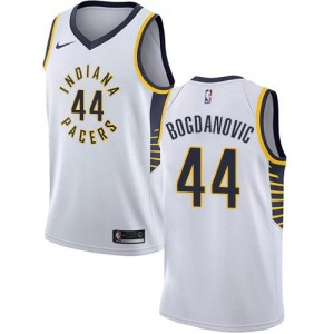 Nike NBA Maillot De Bogdanovic Pacers Homme #44 Blanc Association Edition