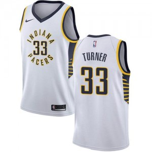 Nike NBA Maillots De Turner Pacers Association Edition No.33 Blanc Enfant