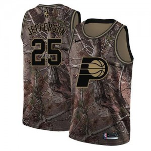 Nike NBA Maillot Basket Al Jefferson Indiana Pacers No.25 Camouflage Homme Realtree Collection