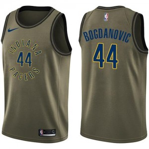 Nike Maillots Bojan Bogdanovic Indiana Pacers Salute to Service No.44 Homme vert