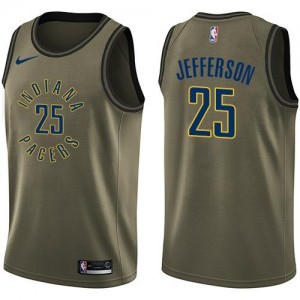 Nike NBA Maillot Basket Jefferson Indiana Pacers #25 Salute to Service Homme vert