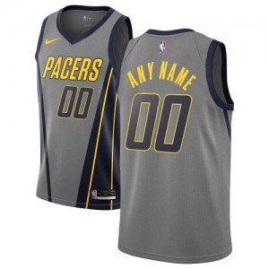Nike NBA Maillot Personnalisé Indiana Pacers City Edition Homme Gris