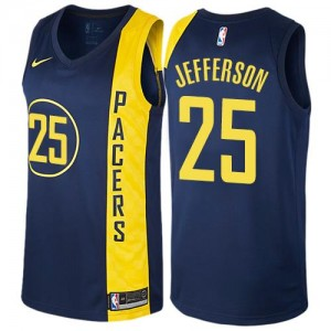 Nike Maillots De Basket Jefferson Indiana Pacers City Edition Enfant bleu marine No.25