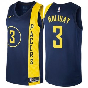 Maillots Holiday Indiana Pacers bleu marine Nike Homme #3 City Edition
