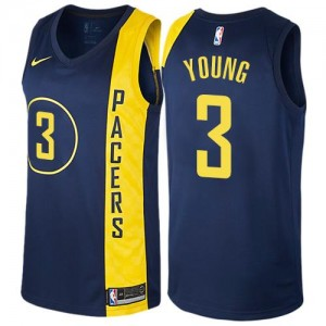 Maillot De Joe Young Pacers bleu marine City Edition Nike Homme #3